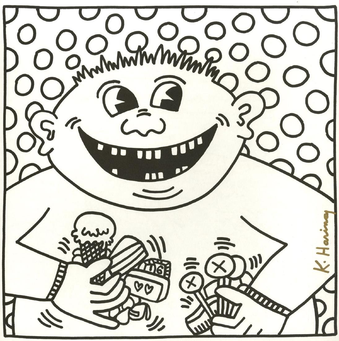 1153: KEITH HARING - Sixteen Teeth