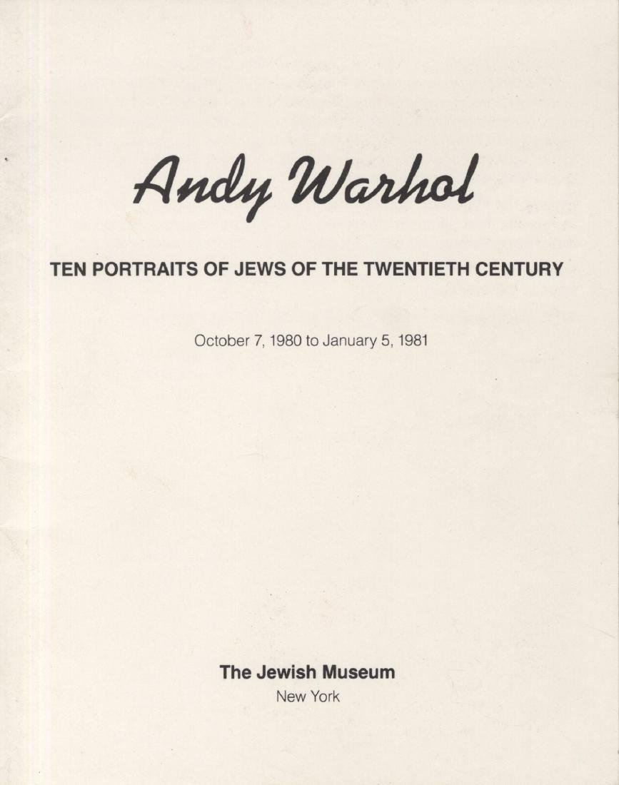 1192: ANDY WARHOL - Ten Portraits of Jews of the - 7