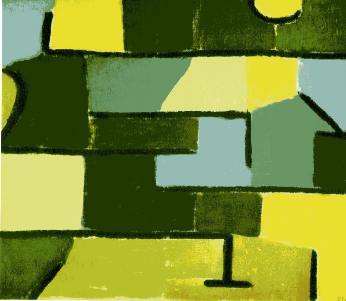 """1491: PAUL KLEE - Green on Green [""""Grun in Grun""""]"""