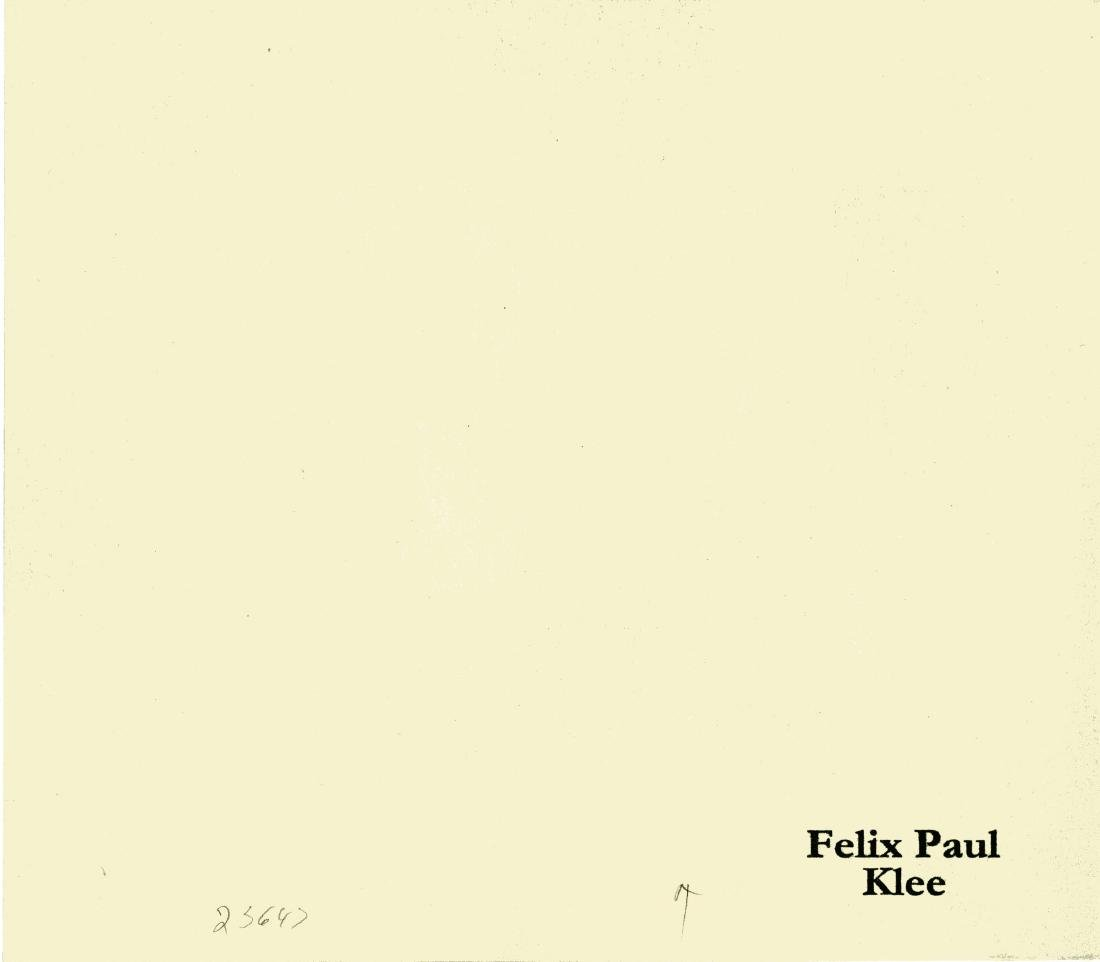 """1491: PAUL KLEE - Green on Green [""""Grun in Grun""""] - 2"""