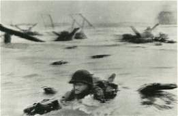 1731: ROBERT CAPA - Omaha Beach, France: D-Day, June 6,