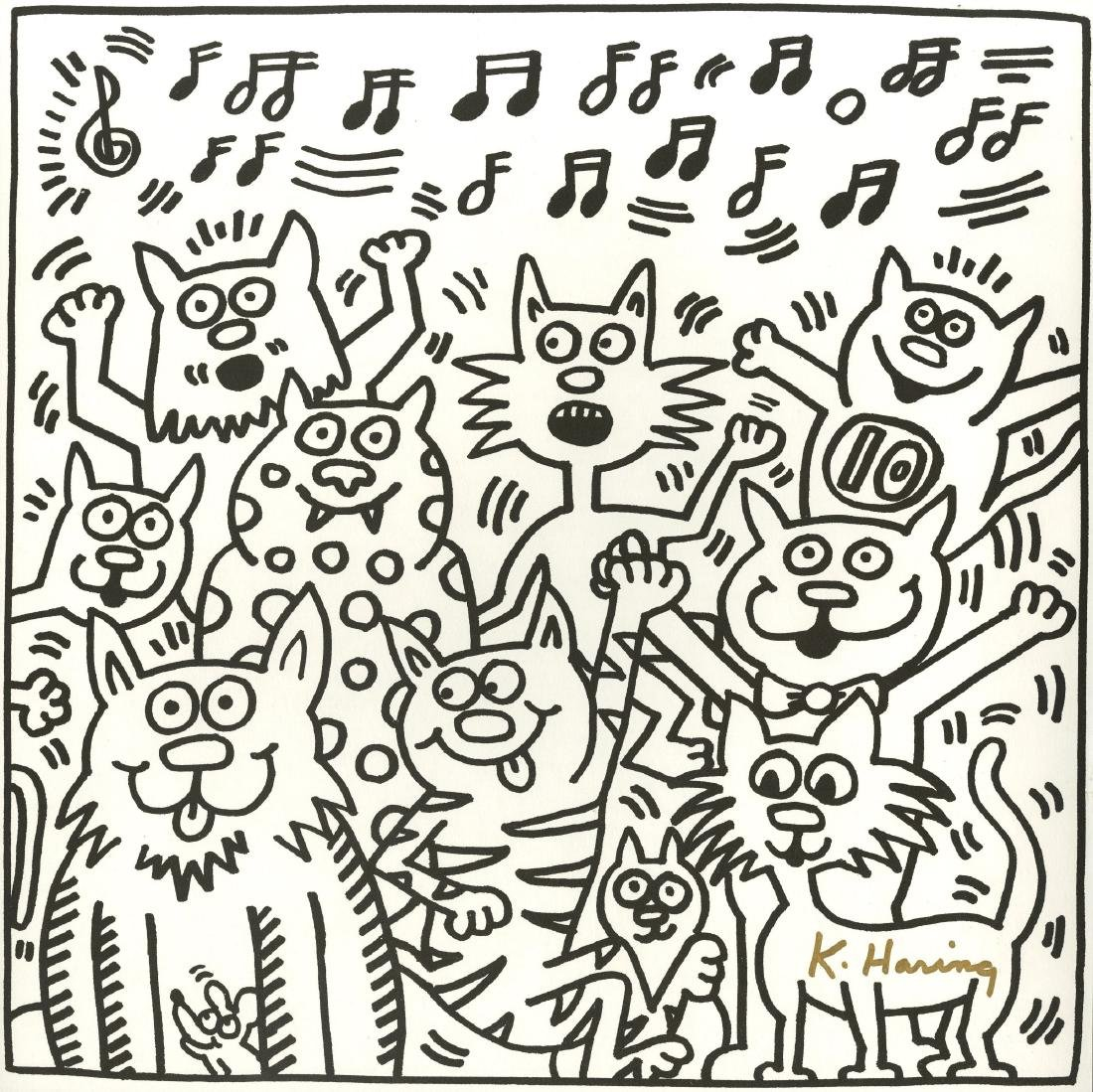 1902: KEITH HARING - Ten Cats