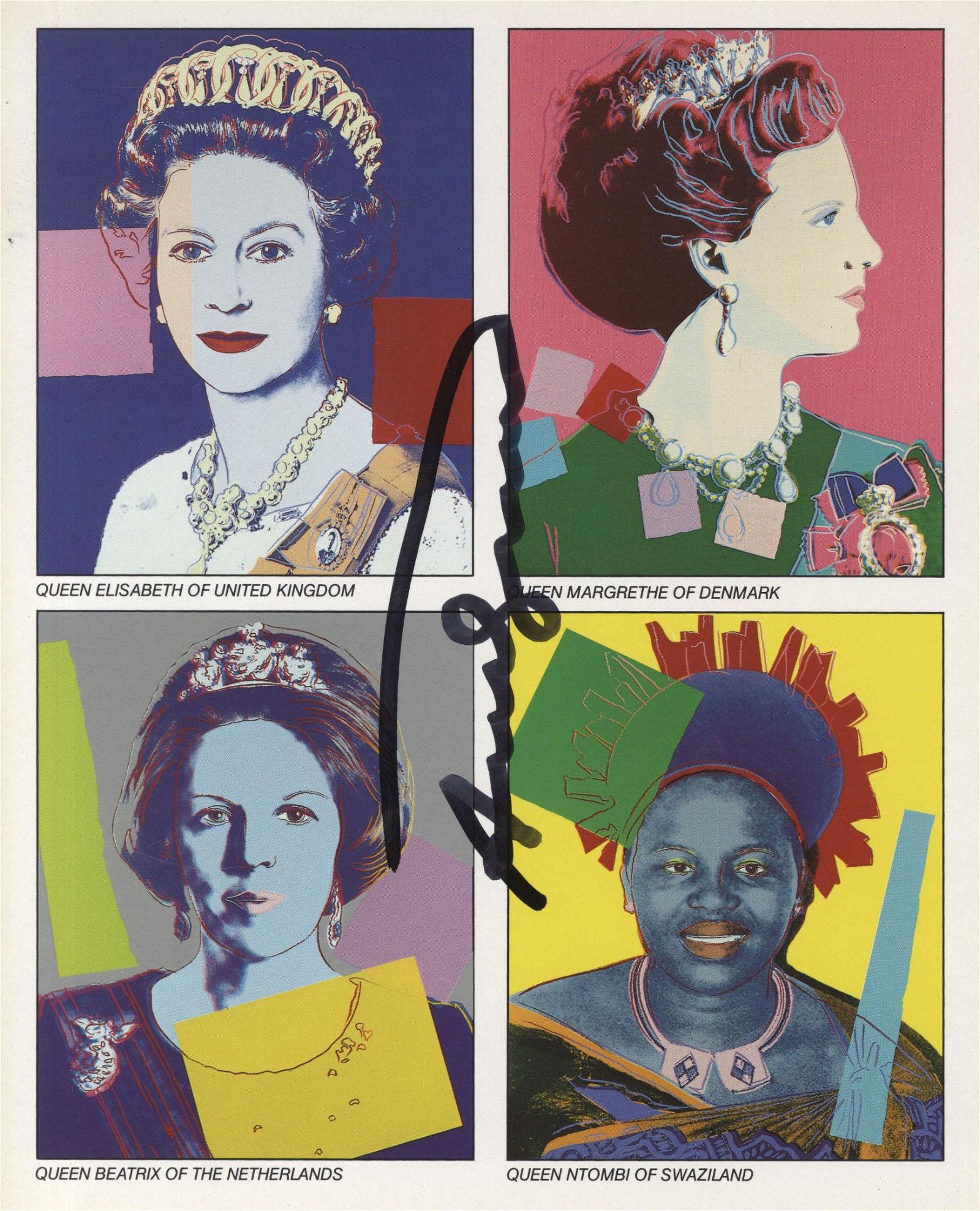 ANDY WARHOL - Reigning Queens - Color offset lithograph