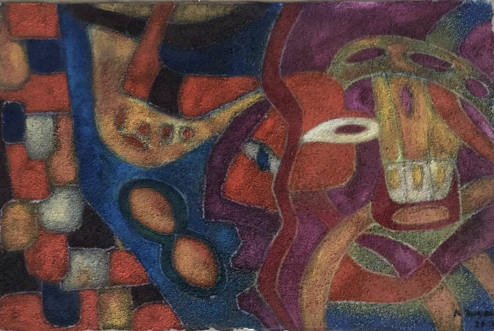 KARIMA MUYAES - Travelers - Oil and pigments on paper