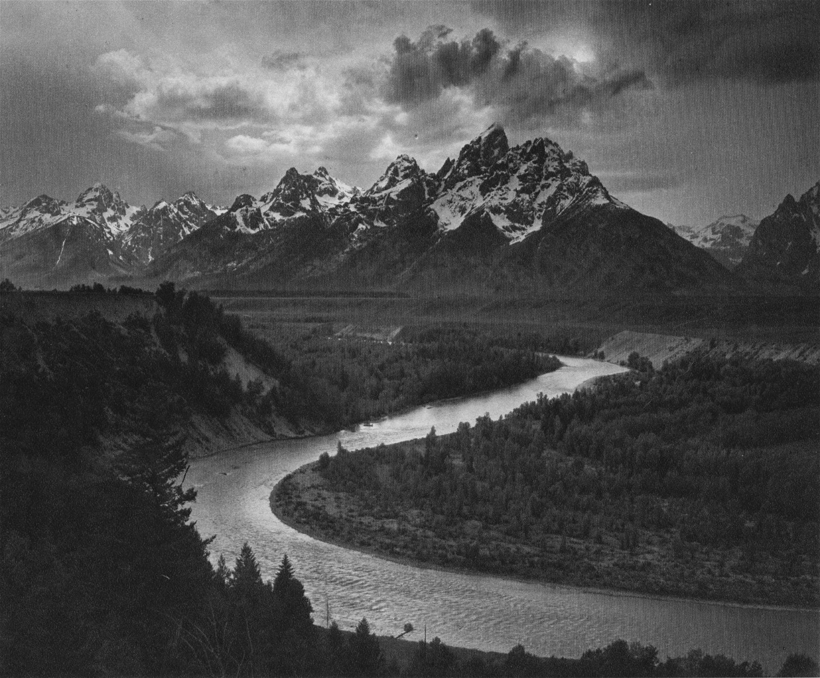 ANSEL ADAMS - The Tetons and the Snake River, Grand