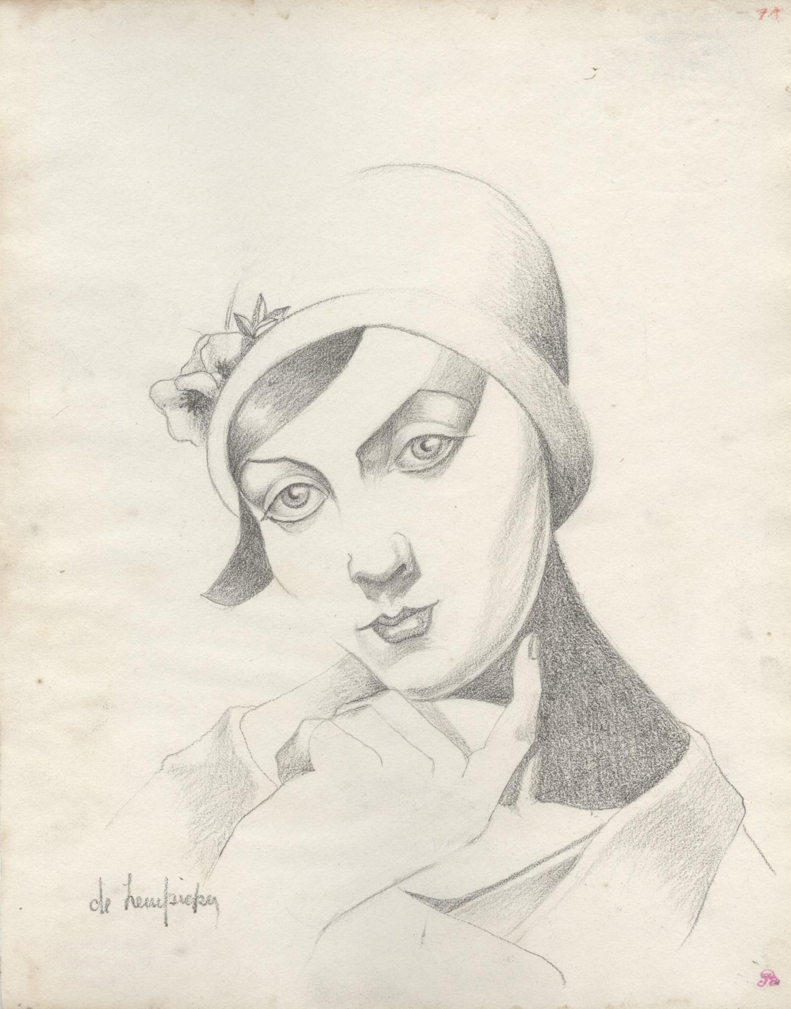 TAMARA DE LEMPICKA - Portrait de Rose Clerc au chapeau