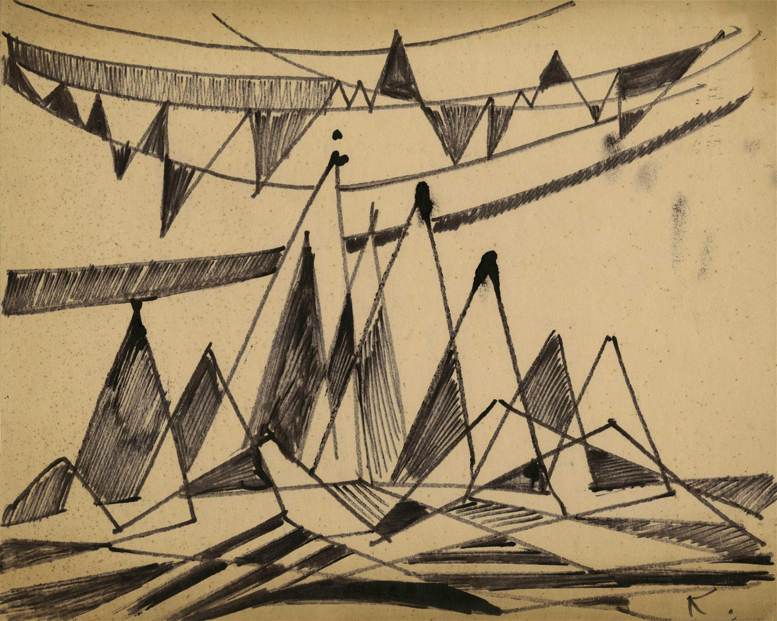JALED MUYAES - Non-objective Composition #50C - Pen and
