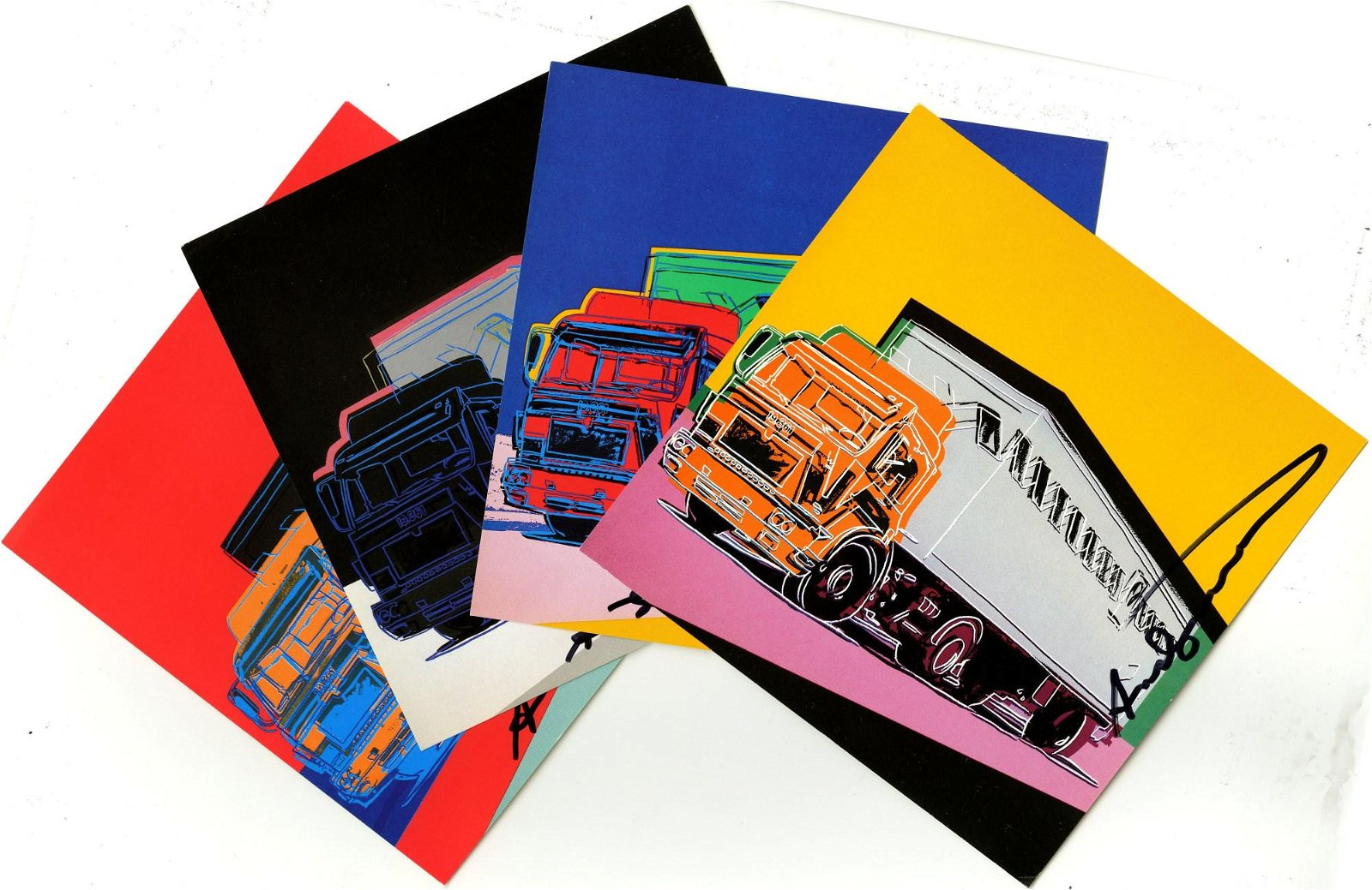 ANDY WARHOL - Trucks Suite - Color offset lithographs