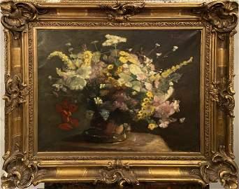 HENRI FANTIN-LATOUR - Nature morte: fleurs veloutées -