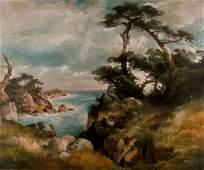 THOMAS MORAN - Near Point Lobos, China Cove, Monterey