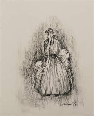 KATHE KOLLWITZ [par/imputée] - Sorgen machende Mutter