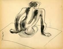 WILLEM DE KOONING - Nude Composition - Ink and wash