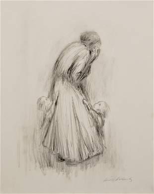 KATHE KOLLWITZ [par/imputée] - Sorgen machende Mutter I