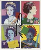 ANDY WARHOL  Reigning Queens  Color offset lithograph