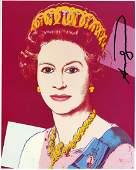 ANDY WARHOL  Queen Elizabeth II 3  Color offset