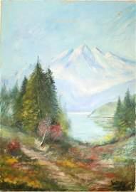 WINSTON S. CHURCHILL [imputee] - Four Peaks - Oil on
