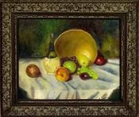 242: LUZ M. JANER (Spanish) Oil on canvas on board