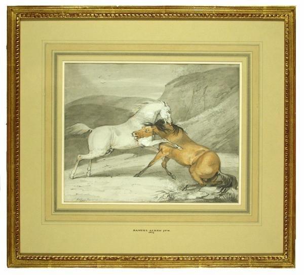 5: SAMUEL ALKEN, JR. (English) Watercolor and graphite