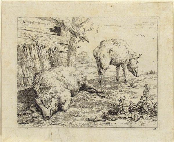 19: KAREL DUJARDIN (Dutch) Etching