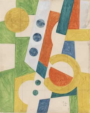 FERNAND LEGER - Les disques - 1924 - Gouache and pencil