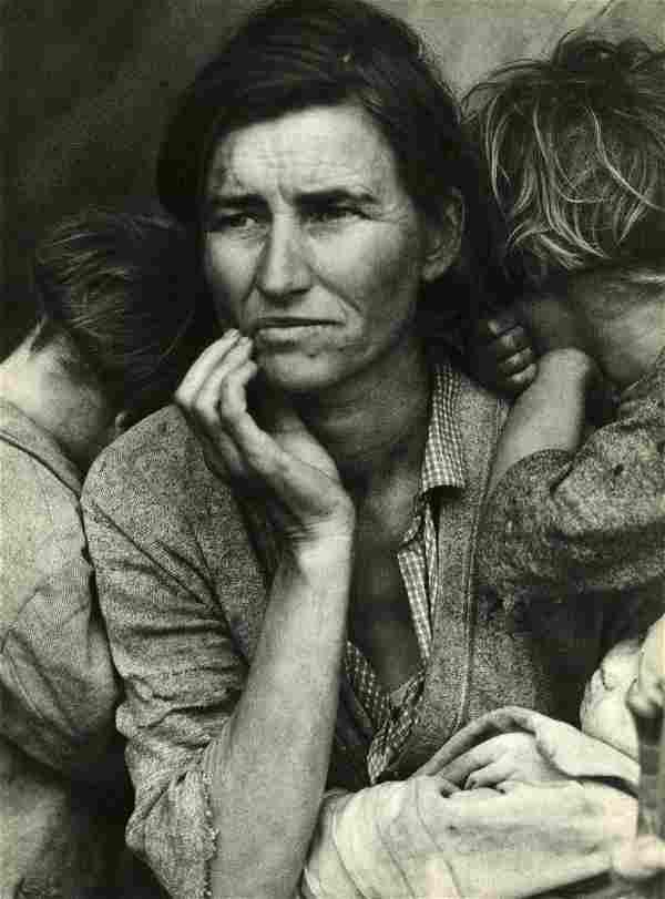 DOROTHEA LANGE - Migrant Mother, Nipomo, California -