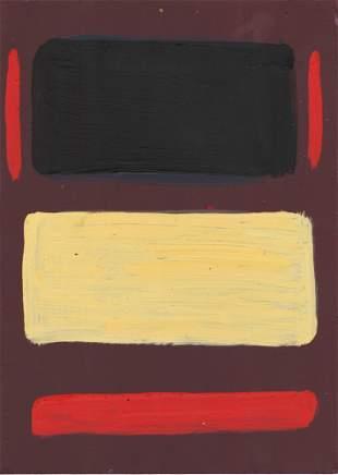 MARK ROTHKO - Untitled No.7 - Oil on wood panel