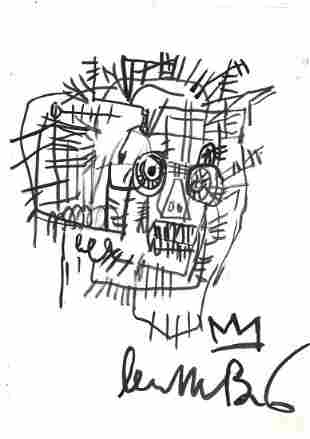 JEAN-MICHEL BASQUIAT - Untitled Portrait - Marker