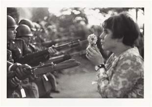 MARC RIBOUD - Anti-Vietnam War Protestor with Flower,