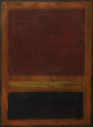 MARK ROTHKO - Untitled (Orange) - Oil on paper