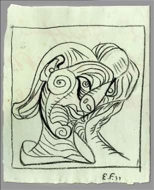 EMIL FILLA - Zeny hlavu doprava (Woman's Head to the