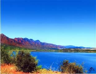 SHARI BRUNTON - Horseshoe Lake at the Dam, Arizona -