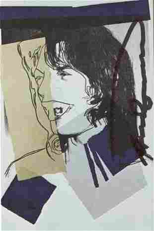 ANDY WARHOL - Mick Jagger #06 (first edition) - Color