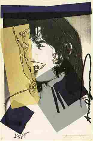 ANDY WARHOL - Mick Jagger #06 (second edition) - Color