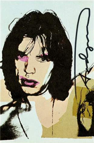 ANDY WARHOL - Mick Jagger #09 (first edition) - Color