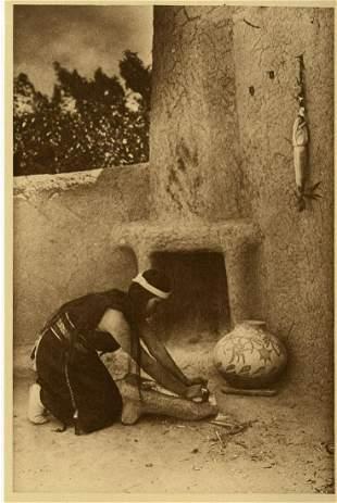 EDWARD S. CURTIS - The Grinding Stone - Original