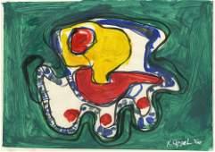 KAREL APPEL [d'apres] - Untitled - Oil on paper