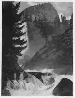 ANSEL ADAMS - Vernal Fall, Yosemite National Park,