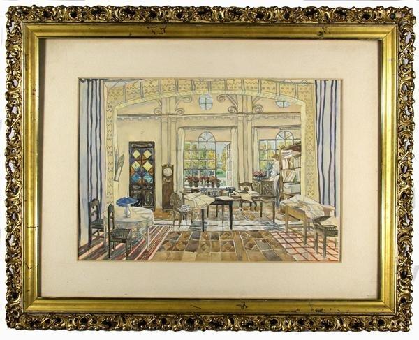 271: ALEKSANDR YAKOVLEVICH GOLOVIN (Russian) Watercolor