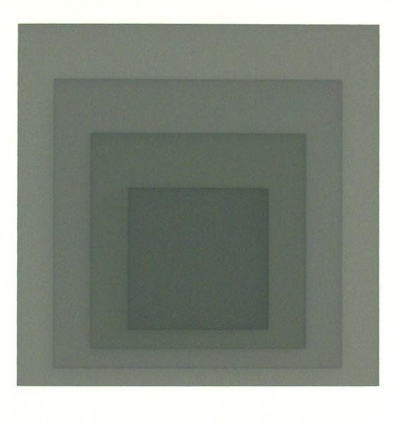 2: JOSEF ALBERS (German) Original color silkscreen