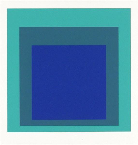 3: JOSEF ALBERS (German) Original color silkscreen