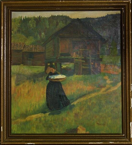 9: AMERICAN SCHOOL [20TH CENTURY] Oil on canvas