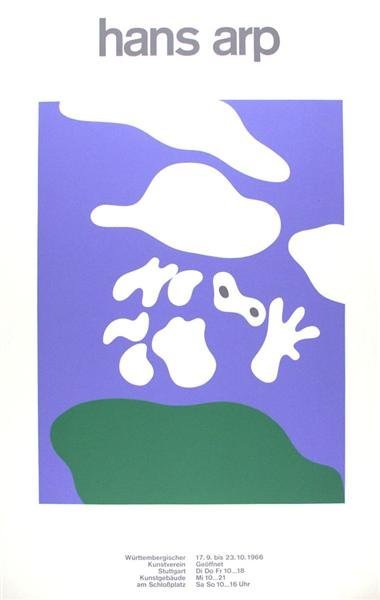21: JEAN (HANS) ARP [AFTER] (French) Color silkscreen p