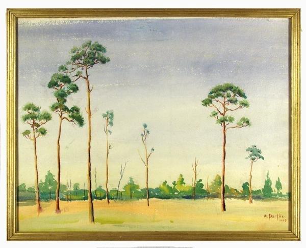 24: WILLIAM J. BARTKO (American) Watercolor