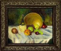 151: LUZ M. JANER (Spanish) Oil on canvas on board