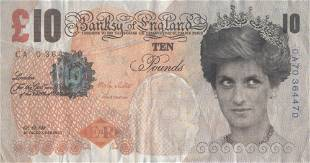 BANKSY - Di-faced Tenner - Color offset lithograph