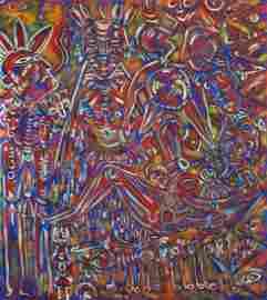 KARIMA MUYAES - Rain - Oil on canvas