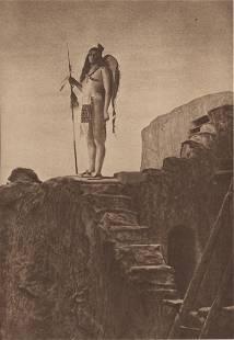EDWARD S. CURTIS - Pueblo Staircase - Original vintage