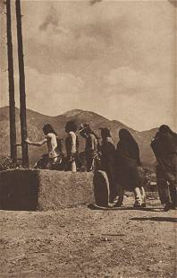 EDWARD S. CURTIS - Into the Kiva, Pueblo - Original