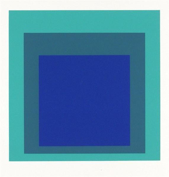 2: JOSEF ALBERS (German/American) Original color silksc