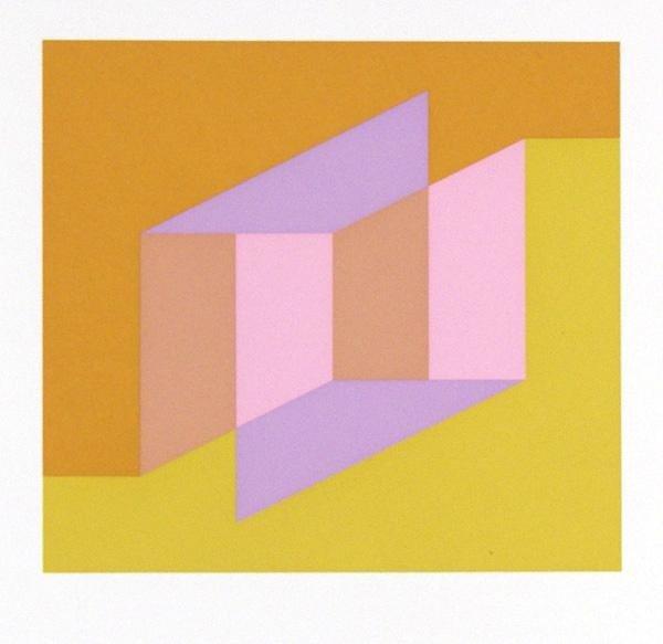 4: JOSEF ALBERS (German/American) Original color silksc